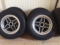 "Ford Escort Mk1 Rs2000 Alloy Wheels 5 1/2"" mexico capri sport mk2"