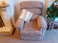 Lazyboy Armchair and matching electric recliner