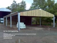 Agricultural Farm Buildings Cow Sheds Horse Stables Riding Arena Steel Framed Industrial Buildings