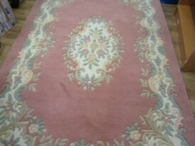 Dusky Pink Design Large Rug