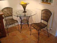 Table and 2 chairs French bistro set