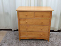 Solid Pine 3+2 Chest of Drawers