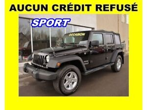2016 Jeep WRANGLER UNLIMITED SPORT 4X4 TOIT AMOVIBLE MAGS