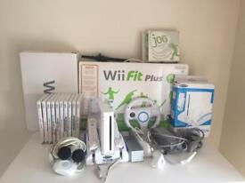 Wii fit console plus sports games music bunde