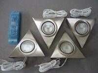 LED Lights, Kitchen Under Cabinet, Set of 4 Plus Controller