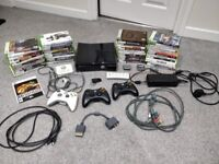 Xbox 360 slim 250gb with games and accessories