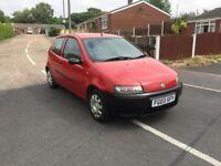 Fiat Punto red 3 door 1.2 petrol long mot