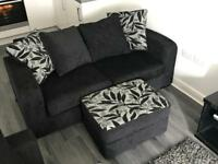 2 Seater Sofa & foot stall with storage