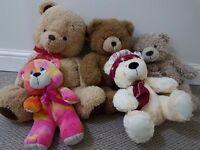 Plush toys - Teddy bear family