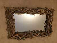 Beautiful driftwood mirror