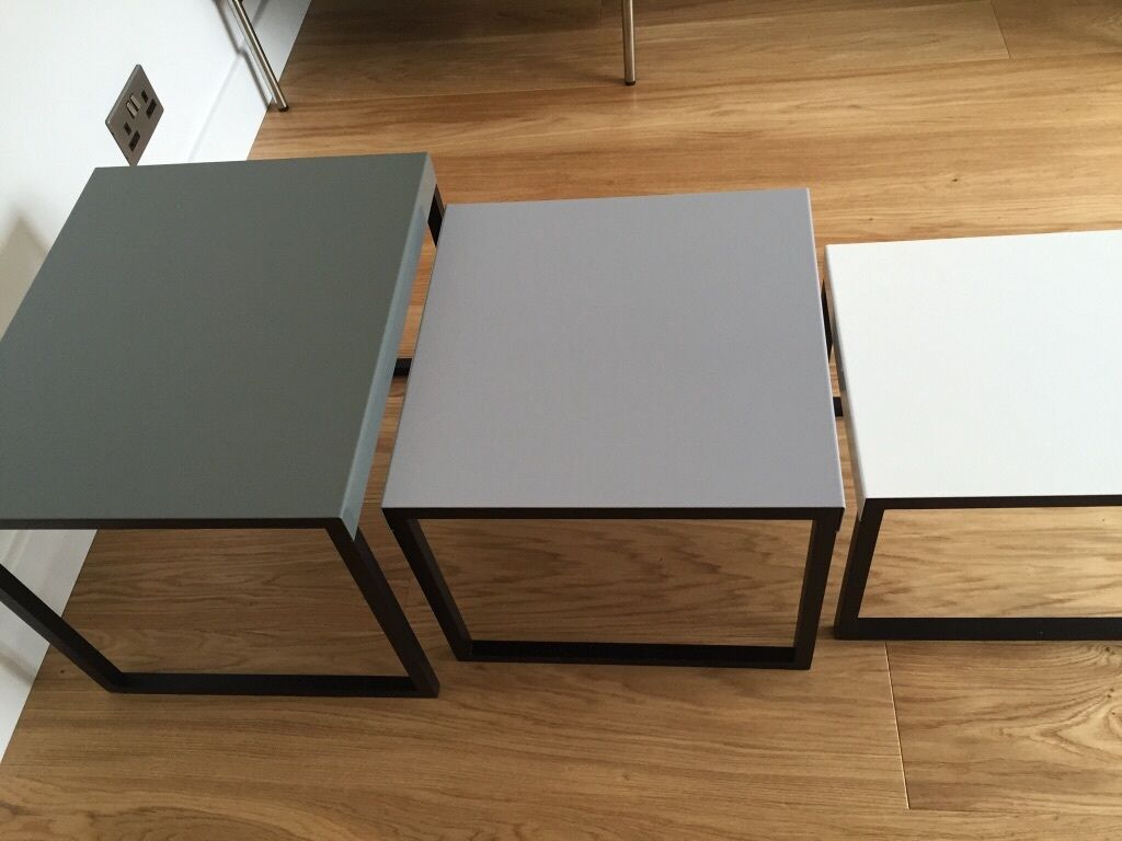 Habitat Kilo Metal Nest Of Tables Grey In Blackburn
