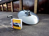 Satellite dish and receiver-Used-Good condition