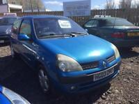 2003 Renault Clio 1.2 Petrol 3 Door 12 Months MOT