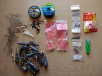 Assorted sea fishing accessories