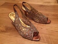 Unze High Heels. Occasion Shoes. Size 3.