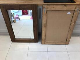 Rustic mirrors x 2