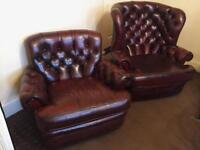 Chesterfield 2 Leather Chairs For Sale BARGAIN!🔥!