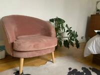 MADE pink velvet armchair - SOLD