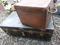 Vintage Worn Storage Trunks- Both shown in photo