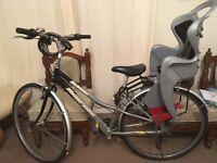 Bike,child seat,lock& patch repair kit everything good condition.