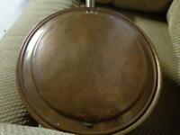 antique brass and copper bed warmer