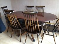 Dining Set consisting of 2 sideboards, 6 chairs & 1 extending table