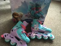 Girls Frozen Inline Skates size 11.5-1 Boxed