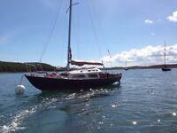 Coribee 21 Sailing Cruiser £2350 o.n.o with road trolley & outboard engine