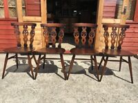 4 Ercol Dining Chairs Golden Dawn Prince Of Wales Feather Backs - Delivery Available