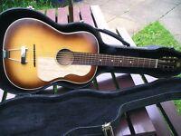 MAKE OFFER / SWAP - Vintage / Old Acoustic Parlour Slide Guitar - Sunburst - Martin strings - Post ?