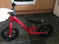Red small no pedal bike!!