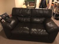 FREE Two-seater brown faux leather sofa