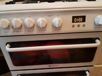 Freestanding hotpoint double oven cooker
