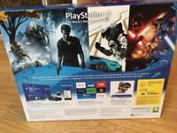 PS4 with 2 games including FIFA 17 un opened