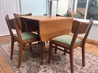 Mid Century Vintage Retro G Plan table and chairs