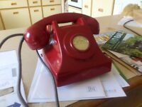 Vintage RED telephone - extremely rare Bakelite version (NOT GPO!)