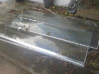 XL SHOWER CURVED EXTRA STRONG REINFORCED GLASS ENCLOSURE PANELS SCREENS FOR BATHROOM/GARDEN PROJECT