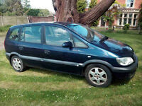 Vauxhall Zafira for spares/repair, good engine/gearbox. Gas conversion (needs attention) £350 ono