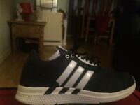 new blue adidas bounce size 6