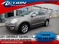 2011 Chevrolet Equinox 2LT CUIR AUTO AIR 4 CYL BLUETOOTH
