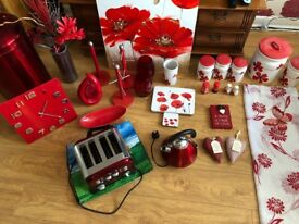 JOB LOT - Red Poppy Kitchenware & Dining ware