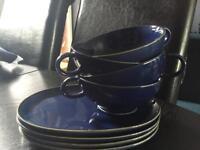 Soup Cups & Saucers x4