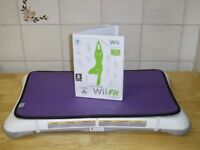 Nintendo Wii Fit Game & Board with Cover