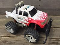 Large snap-on monster truck crawler. Was radio controlled but no electrics included.