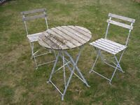 Bistro Garden table and two chairs