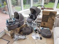 Mamas and Papas Urbo2 pram, carry cot and other accessories