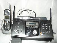 Africa, North America or elsewhere... Panasonic fax machine, cordless phone (110–150 volt) £55.00.