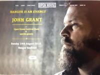 John Grant at open house festival, Bangor