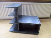 Small black ash effect Hifi unit (or small TV unit) + 3 shelves for cd storage **now reduced price**