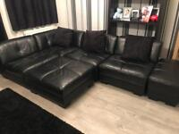Dfs large leather sofa